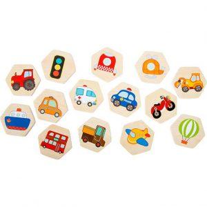 memory joc puzzle lemn copii