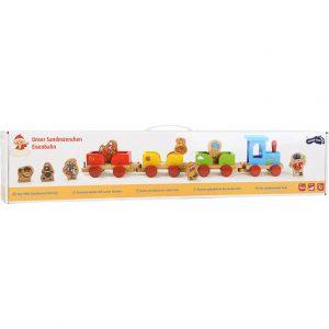 Trenulet jucari pentru copii din lemn