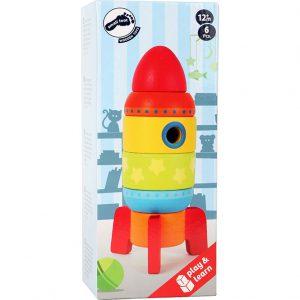 Racheta din lemn jucarie pentru copii