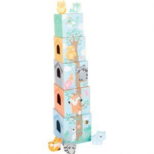 Piramida din cuburi pentru bebelusi