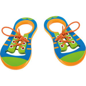 Pantofiori de lemn cu șireturi