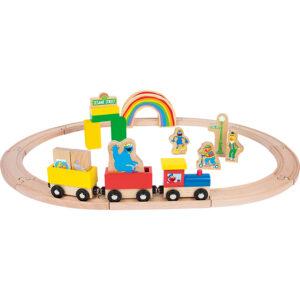 """Trenuleț de lemn """"Sesame Street"""""""