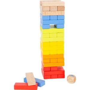 """Joc din lemn pentru copii Turnul """"Curcubeul jucăuș"""""""