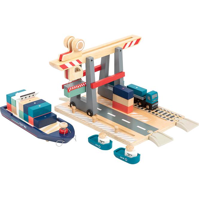 """Jucărie """"Terminal naval - încărcare marfă"""""""