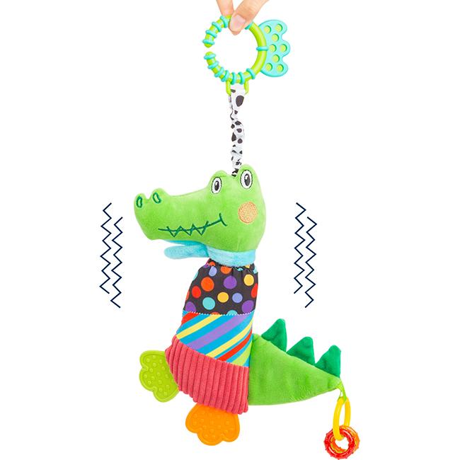 """Jucărie de pluș """"Crocodilul zornăitor"""""""